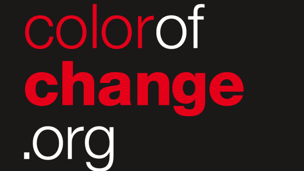 Colorofchange logo stacked dark bg